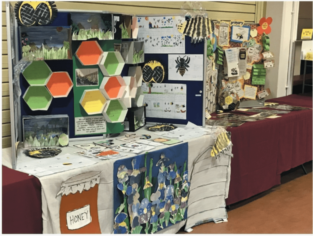 Lindsay Baillie took local primary school entries down to the National Honey Show